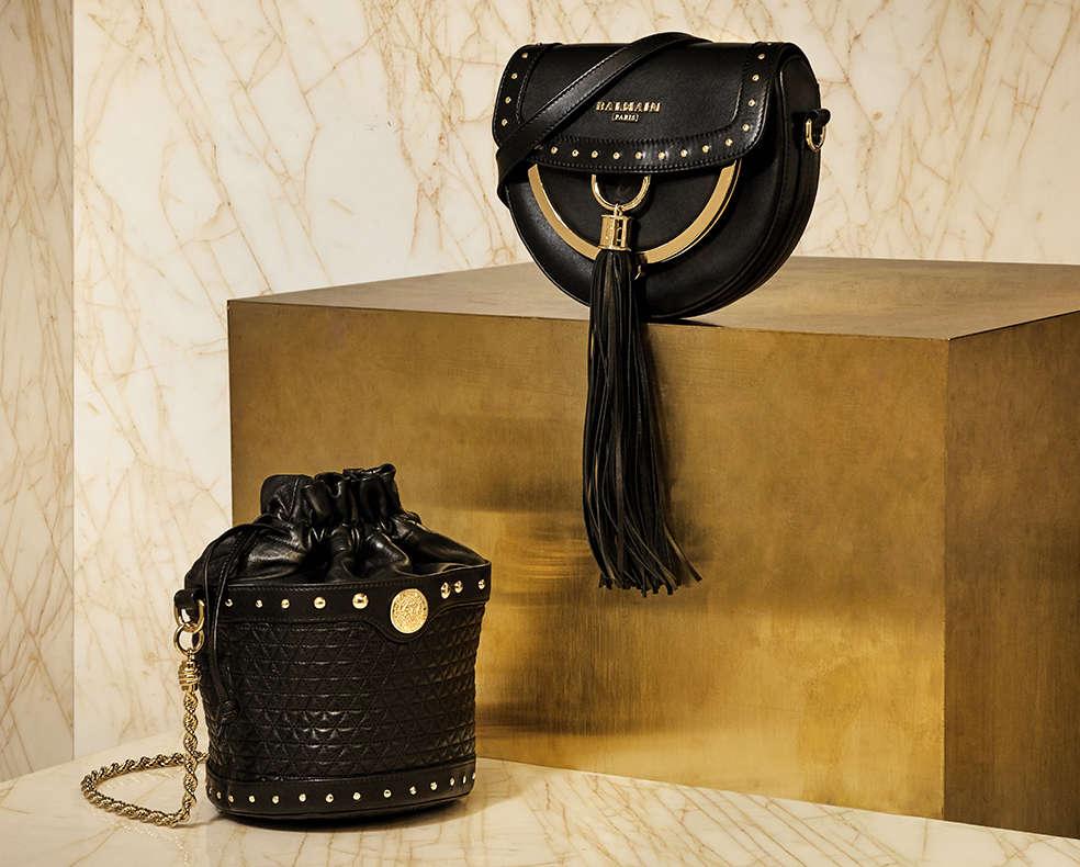 Balmain cross-body bag and bucket bag