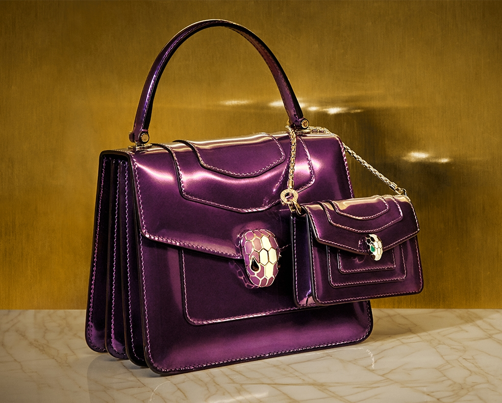Bulgari Forever Serpenti top-handle bag and charm