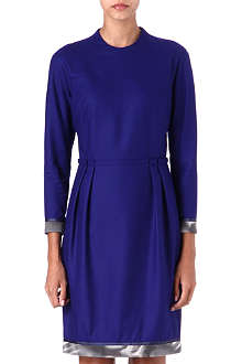 PAUL SMITH MAINLINE Contrast-hem wool dress