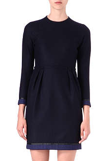 PAUL SMITH MAINLINE Ruched wool dress