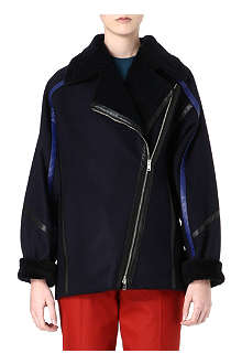 PAUL SMITH MAINLINE Shearling oversized coat