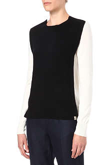 PAUL SMITH MAINLINE Colour-block wool-blend jumper