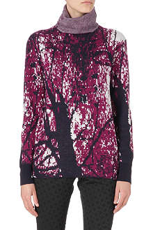PAUL SMITH MAINLINE Pixel-print knitted jumper