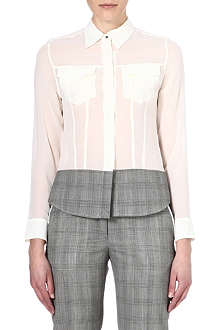 PAUL SMITH MAINLINE Check-panelled silk shirt