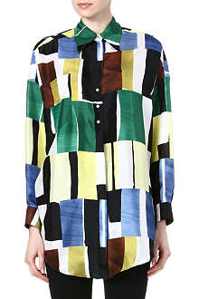 PAUL SMITH MAINLINE Painterly print silk shirt