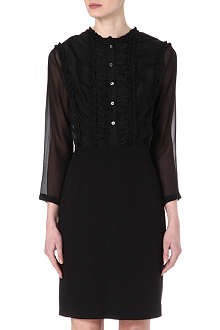 PAUL SMITH MAINLINE Semi-sheer crepe ruffle dress