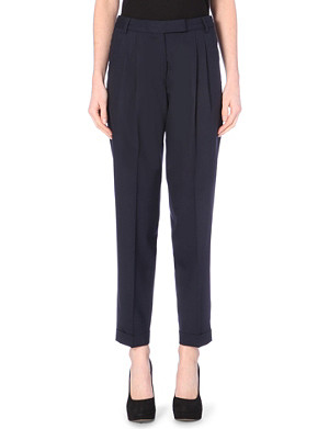PAUL SMITH MAINLINE Tapered stretch-wool trousers