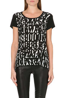 PAUL SMITH BLACK Monochrome letter-print t-shirt