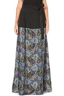 PAUL SMITH MAINLINE Paisley-print maxi skirt