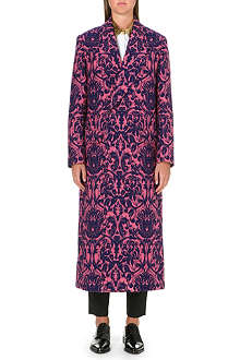 PAUL SMITH MAINLINE Long jacquard floral-print coat