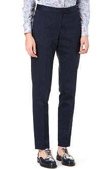 PAUL SMITH BLACK Polka dot straight-leg trousers