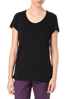 PAUL SMITH BLACK Contrast floral back t-shirt