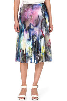 PAUL SMITH BLACK Chiffon pleat midi skirt