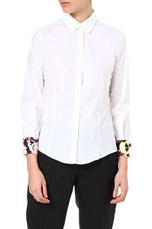 PAUL SMITH BLACK Pansy-cuff shirt