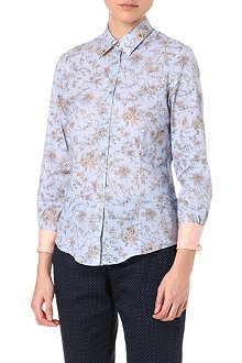 PAUL SMITH BLACK Toile de Joue floral shirt