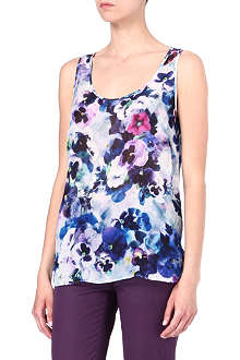 PAUL SMITH BLACK Floral-printed silk-chiffon vest