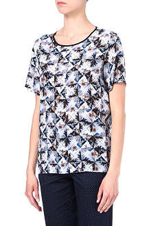 PAUL SMITH BLACK Graphic-print silk top