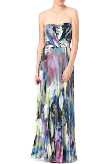 PAUL SMITH BLACK Floral chiffon gown