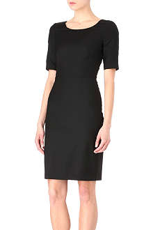 PAUL SMITH BLACK Grosgrain-trimmed dress