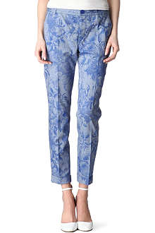 PAUL BY PAUL SMITH Floral-print cropped trousers