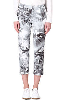PAUL SMITH PAUL Printed straight-leg trousers