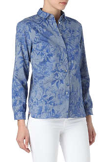 PAUL SMITH PAUL Surrealist Collage chambray shirt