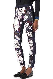 PAUL SMITH BLACK Magnolia-print skinny trousers