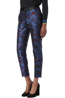 PAUL SMITH BLACK Floral jacquard trousers
