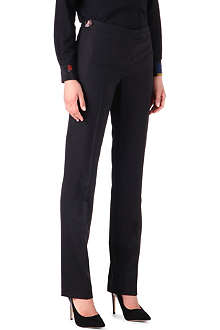 PAUL SMITH BLACK Straight-leg wool trousers