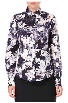 PAUL SMITH BLACK Magnol print cotton shirt