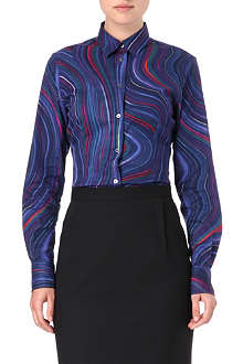 PAUL SMITH BLACK Swirl cotton shirt