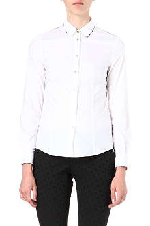 PAUL SMITH BLACK Slim-fit cotton trim shirt