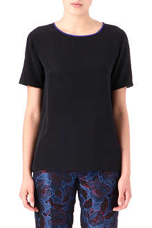 PAUL SMITH BLACK Silk-crepe top