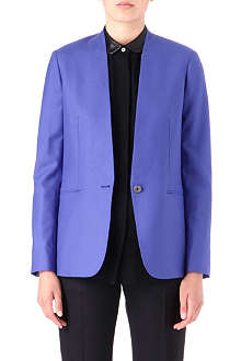 PAUL SMITH BLACK Collarless wool blazer