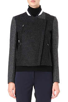 PAUL SMITH BLACK Two-tone wool bomber jacket