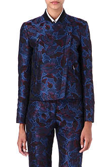 PAUL SMITH BLACK Floral jacquard blazer