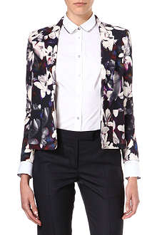 PAUL SMITH BLACK Floral-print crepe blazer