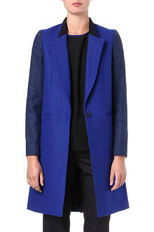 PAUL SMITH BLACK Two-toned wool coat