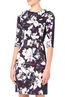 PAUL SMITH BLACK Magnolia-print dress