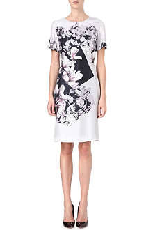 PAUL SMITH BLACK Magnolia-print silk dress
