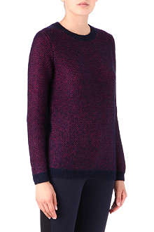 PAUL SMITH BLACK Contrast mohair jumper