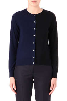 PAUL SMITH BLACK Bicolour cashmere cardigan