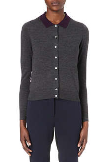 PAUL SMITH BLACK Contrast-collar cardigan