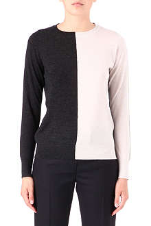 PAUL SMITH BLACK Two-tone cashmere jumper
