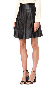 PAUL BY PAUL SMITH Flared leather skirt