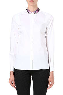 PAUL BY PAUL SMITH Floral-collar shirt