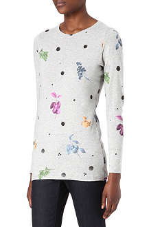 PAUL BY PAUL SMITH Fruit and spot-print long-sleeved t-shirt