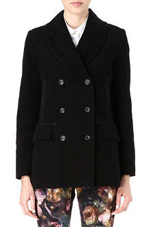 PAUL BY PAUL SMITH Moleskin peacoat