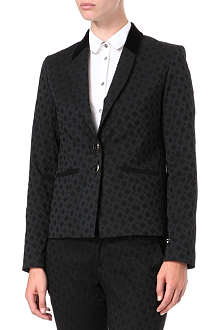PAUL BY PAUL SMITH Velvet-panel jacquard blazer