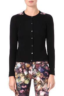 PAUL BY PAUL SMITH Rose-print knitted cardigan